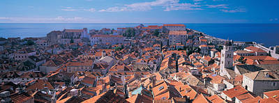 Rooftop Photograph - High Angle View Of A City, Dubrovnik by Panoramic Images