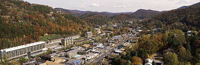 Gatlinburg Photograph - High Angle View Of A City, Gatlinburg by Panoramic Images