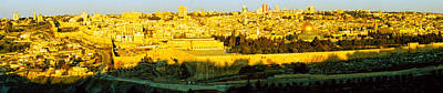 High Angle View Of A City, Jerusalem Print by Panoramic Images