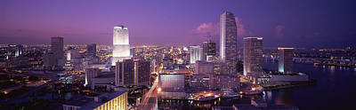 Rooftop Photograph - High Angle View Of A City, Miami by Panoramic Images