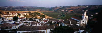 Rooftop Photograph - High Angle View Of A City, Portugal by Panoramic Images