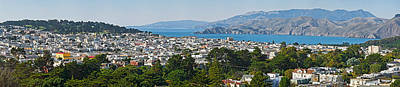 Golden Gate Park Photograph - High Angle View Of A City, Richmond by Panoramic Images