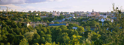 Vilnius Photograph - High Angle View Of A City, Vilnius by Panoramic Images