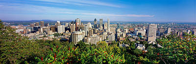 Montreal Cityscapes Photograph - High Angle View Of A Cityscape, Parc by Panoramic Images