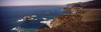 Big Sur California Photograph - High Angle View Of A Coastline, Big by Panoramic Images