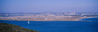 Panoramic Of San Diego Photograph - High Angle View Of A Coastline by Panoramic Images