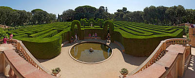 Labyrinth Photograph - High Angle View Of A Formal Garden by Panoramic Images
