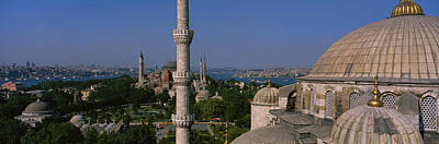 Hagia Sophia Photograph - High Angle View Of A Mosque, St by Panoramic Images