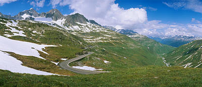 Switzerland Photograph - High Angle View Of A Road Passing by Panoramic Images