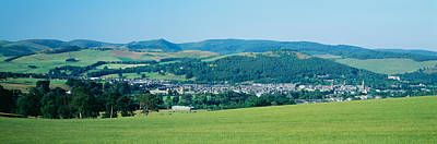 Rooftop Photograph - High Angle View Of A Village, Peebles by Panoramic Images