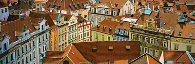 Rooftop Photograph - High Angle View Of Buildings, Prague by Panoramic Images