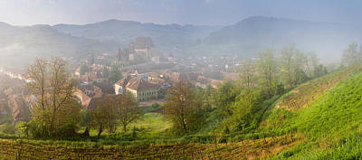 Romania Photograph - High Angle View Of Houses In A Village by Panoramic Images