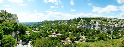 Provence Photograph - High Angle View Of Limestone Hills by Panoramic Images