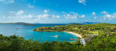 Tropical Climate Photograph - High Angle View Of The Caneel Bay, St by Panoramic Images