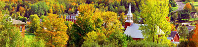 Quebec Photograph - High Angle View Of Trees, Frelighsburg by Panoramic Images