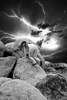 High Desert Dry Lightning Print by Ken Evans