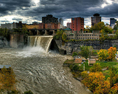 City Landscape Photograph - High Falls by Tim Buisman