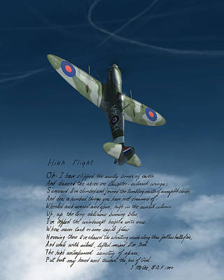 Spitfire Painting - High Flight by Hangar B Productions