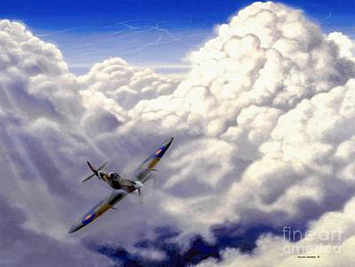 Spitfire Painting - High Flight by Michael Swanson