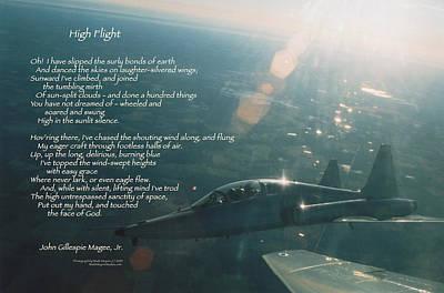Talons Photograph - High Flight T-38c by Wade Meyers