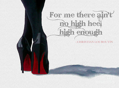Shoe Mixed Media - High Heels by Rebecca Jenkins