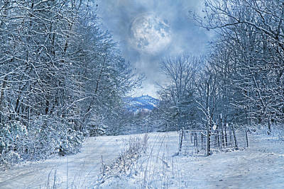 Snowstorm Photograph - High Peak Mountain Snow by Betsy C Knapp