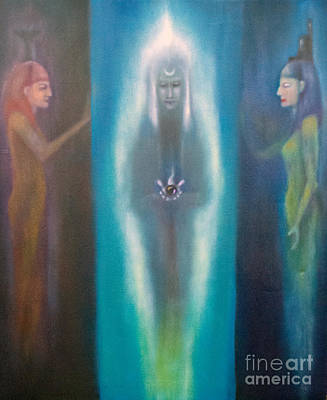 Wicca Painting - High Priestess by Roger Williamson
