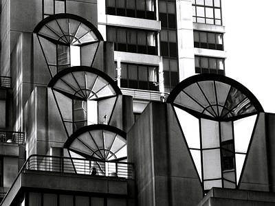 Repetition Photograph - High Rise In Black And White by Bill Gallagher