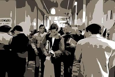 High School Hallway Print by Dan Sproul
