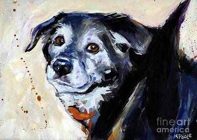 Senior Dog Painting - High Tail by Molly Poole