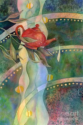 Tea Pot Painting - High Tea by Amy Kirkpatrick