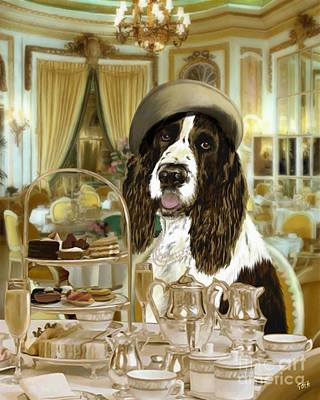 Coffee Digital Art - High Tea At The Ritz by Laura Toth