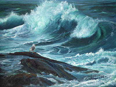Matte Painting - High Tide by Jeanette French