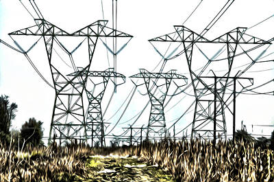 Cornfield Digital Art - High Wire Act by Bill Cannon
