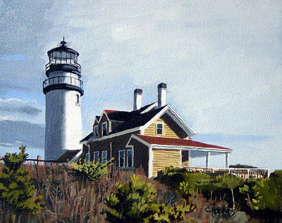 Chatham Harbor Painting - Highland Light North Truro Cape Cod Massuchusetts by Christine Hopkins