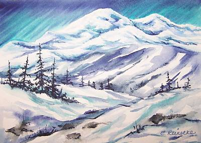 Snowscape Painting - Highlands by Conni  Reinecke