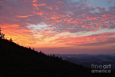 Highlands North Carolina Sunrise In The Great Smokey Mountains 2 Print by Reid Callaway