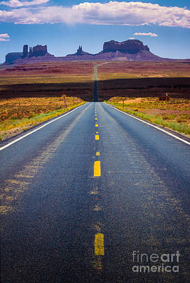 Asphalt Photograph - Highway 163 by Inge Johnsson