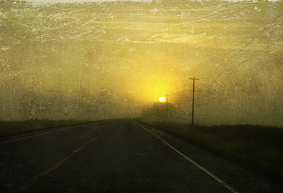 Larysa Luciw Photograph - Highway Sunset by Larysa  Luciw