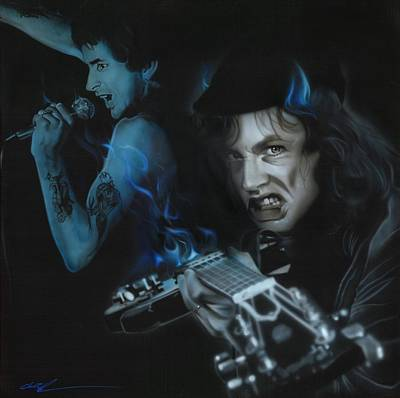 Acdc Painting - A C D C - ' Highway To Bon ' by Christian Chapman Art
