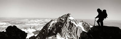 Hiker, Grand Teton Park, Wyoming, Usa Print by Panoramic Images