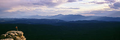 The Edge Photograph - Hiker Standing On A Rock, Mogollon Rim by Panoramic Images