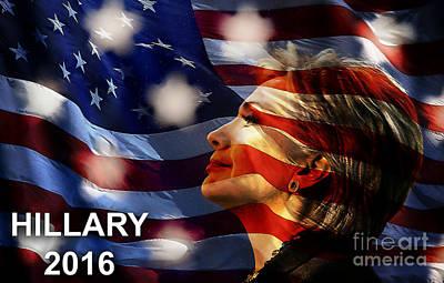 Hillary Clinton Mixed Media - Hillary 2016 by Marvin Blaine
