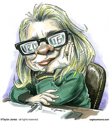 Hillaryvision Print by Taylor Jones
