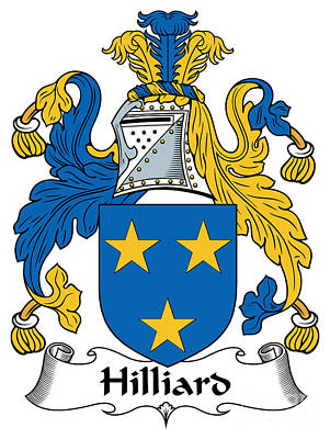 Hilliard Coat Of Arms Irish Print by Heraldry