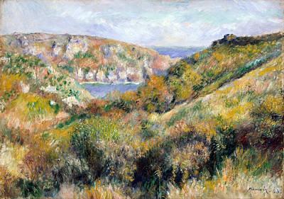 Pierre-auguste Renoir Painting - Hills Around The Bay Of Moulin Huet Guernsey by Pierre-Auguste Renoir
