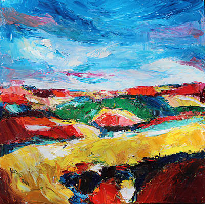 Becky Kim Artist Painting - Hills In Dream 2 by Becky Kim