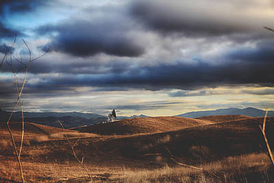 Hills Of Gold Print by Laurie Search