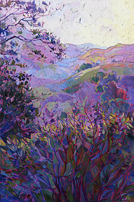 Hills Of Wine Print by Erin Hanson