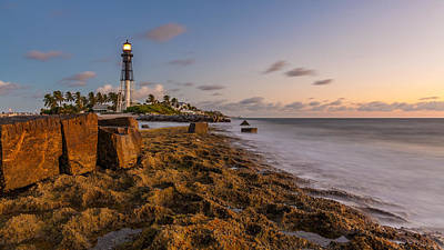 Photograph - Hillsboro Inlet Lighthouse by Claudia Domenig